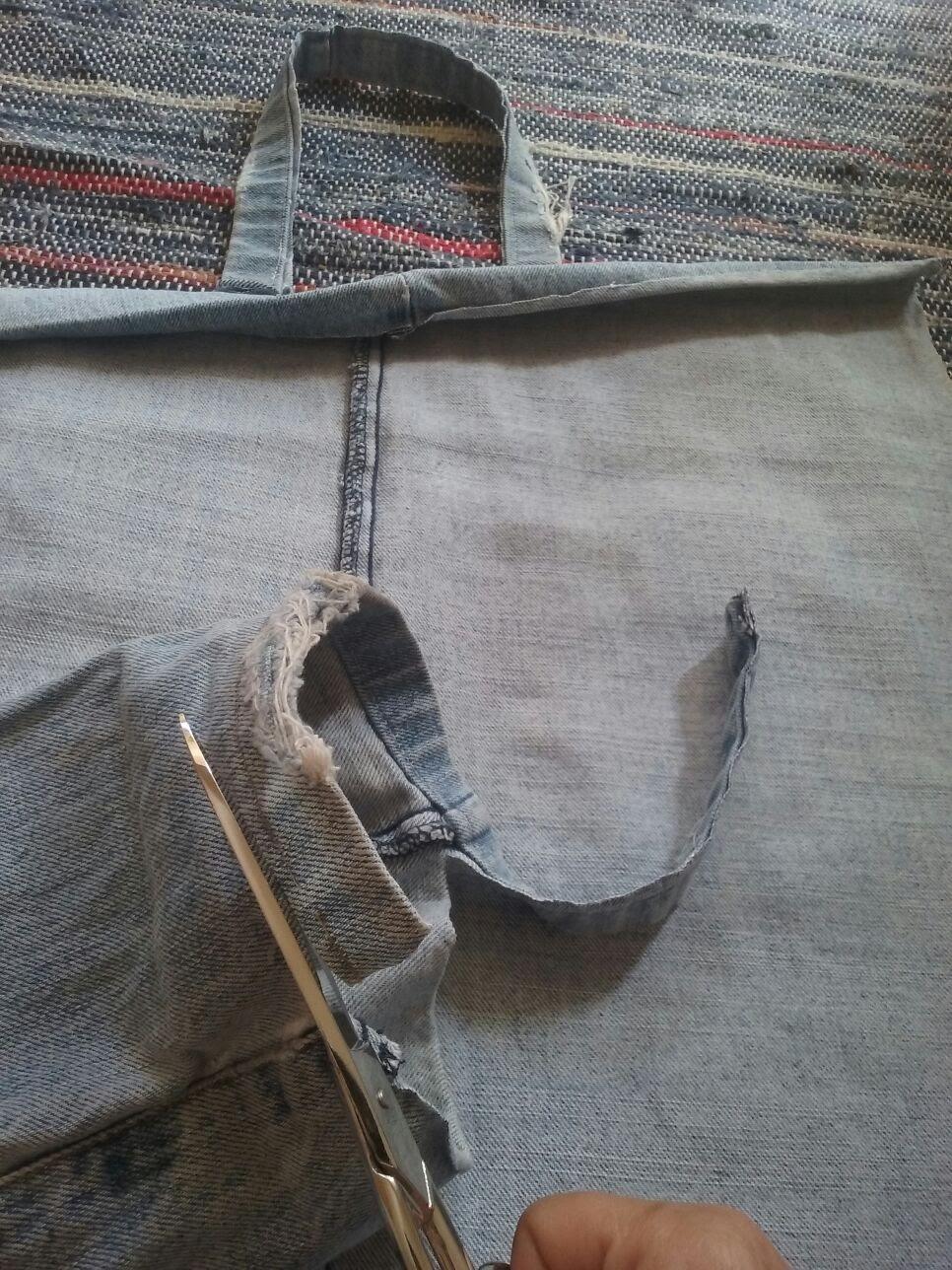 2-corte_costuras Passo a passo - upcycling de calças de ganga