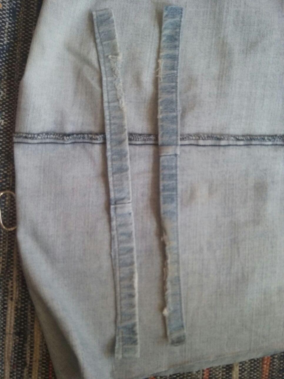 3-costuras Passo a passo - upcycling de calças de ganga