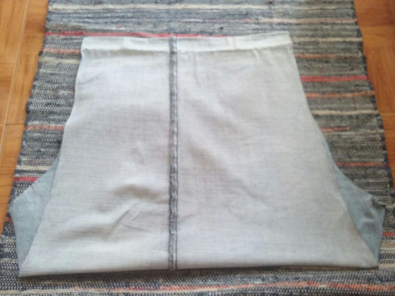 5-dobra Passo a passo - upcycling de calças de ganga