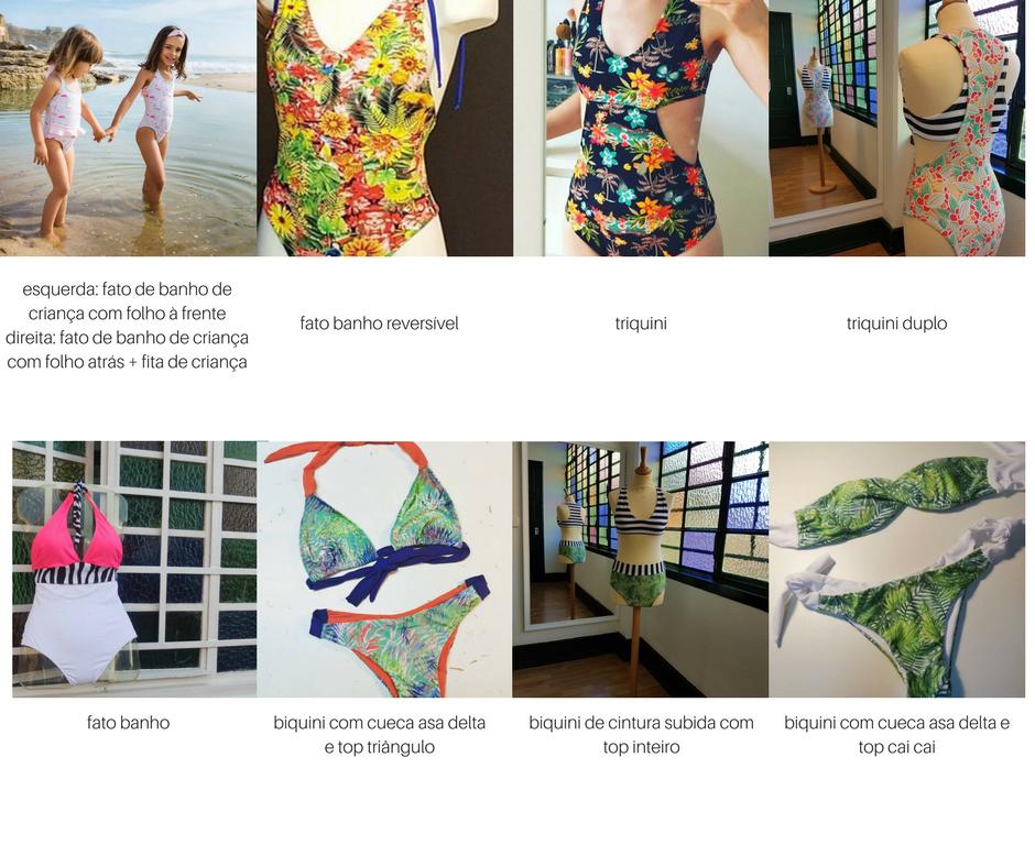 Modelos-Bikinis Workshop biquinis, triquinis e fatos de banho