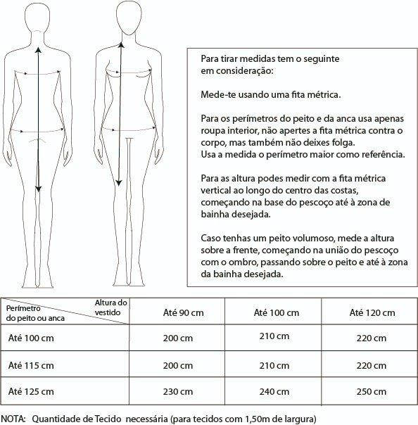 medidas-vestido-tubo Clube das Agulhas - Vestido Tubo